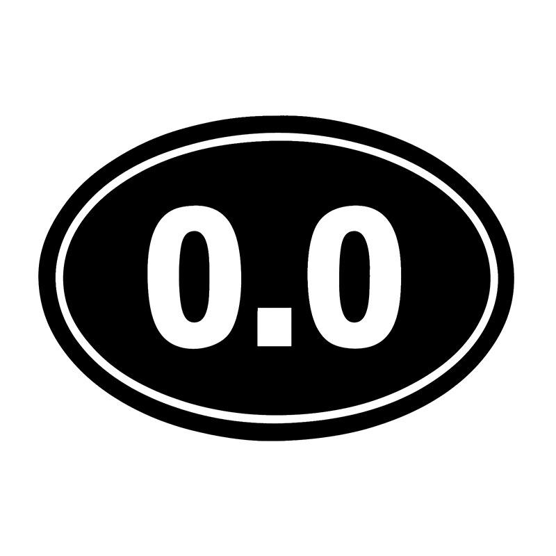 HotMeiNi 0.0 I Dont Run Oval Decal Bumper Sticker Funny Prank 13.1 26.2 Marathon Racing Oem Cartoon Car Sticker