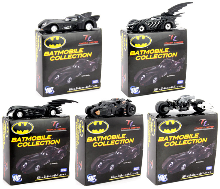 Original TAKARA TOMY Batman Metal Batmobile Chariot Collectible Alloy Car Models Toys 7cm/2.8