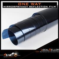 19 x 393 50cm x 1000cm One Way Mirror Navy blue Insulation Stickers Solar Reflective Home Decoration Supplies Window Film