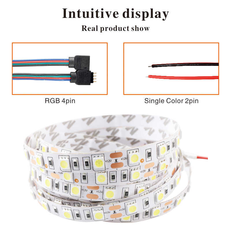 Светодиодная лента 5050 DC12V 60 светодиодный s/m 5 м/лот гибкий светодиодный светильник RGB Холодный/теплый белый красный зеленый синий желтый светильник SMD 5050 Светодиодная лента