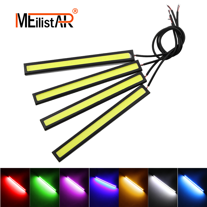 1 Piece 17cm Universal COB DRL LED Daytime Running Lights Car Lamp External Lights Auto Waterproof Car Styling Led DRL Lamp 1pair ultra thin 17cm cob led car daytime running lights led drl waterproof daytime lights car styling parking free shipping