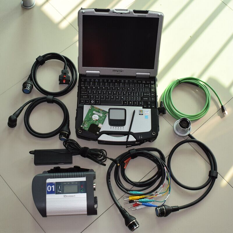 super mb star cc with software 2018.05 hdd 320gb+CF-30 laptop best chip mb sd connect diagnostic tool ready to use