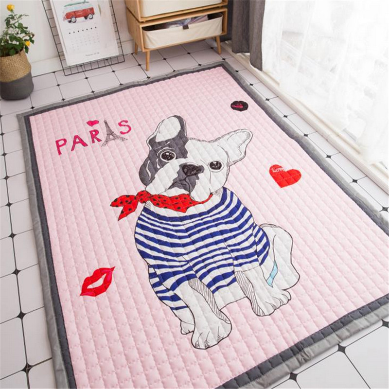 House floormat blanket boys girls game carpet baby child playmat dogs print exclusive rug 1.5cm picnic mat bed carpet cartoon bears floormat cartoon playmat boys girls game carpet animals blanket baby child 2 5cm rug skidproof yoga 150 200cm picnic mat