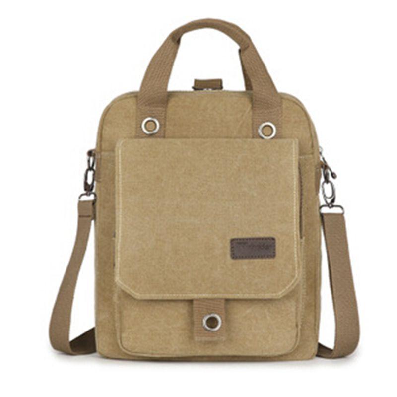 New 2016 High Quality Men Backpacks Zipper Solid Men's Travel Bag Canvas Backpack Mochila School Bags for Teenagers