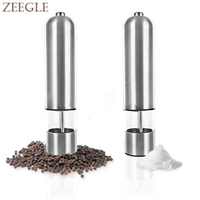 New Stainless Steel Electric Kitchen Tool Spice Mills Sauce Salt Pepper Mill Grinder