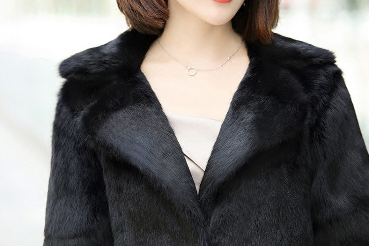 Gratuite Sur Costume Manteau Lapin 100 L'ensemble Femmes Jn454 Mesure Veste X Ceinture Avec Fourrure Dames Col Livraison long Taille De Outwear 2018 0wxqaRAWBx
