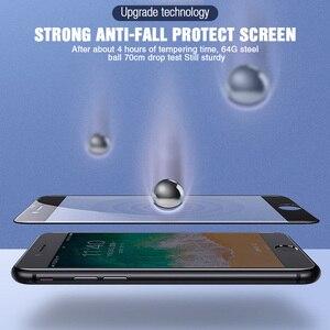 Image 3 - Vidrio protector de borde curvado 30D para iPhone 11 Pro Max 7 8 6 Plus vidrio templado para 11 Pro X XR XS protector de pantalla máx.