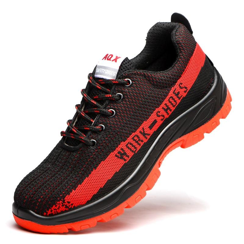 Sécurité Sneakers crevaison Site Travailleur Outillage De Travail Acier Chaussures Anti En Construction Casual Bottes Embout Hommes Respirant PqHH0A