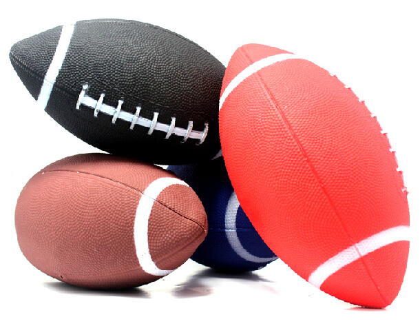 1 Piece 6# American Football Rugby Ball Rubber Soft Balls For Child Kids Young Men Women Safety