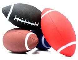 1 pieza 6 # fútbol americano pelota de rugby bolas suaves de goma para niños jóvenes hombres mujeres seguridad