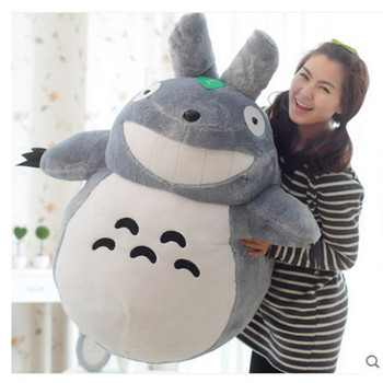 цена на Hot Sale 55CM Famous Cartoon Totoro Plush Toys Smiling Soft Stuffed Toys High Quality Dolls Factory Price In Stock