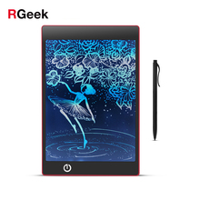 Cheaper Portable Colorful LCD Writing Drawing Board Tablet Pad Notepad Electronic Graphics Digital Handwriting with stylus pen-Red color
