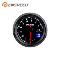 CNSPEED 2 52mm 7 Colors LED Car Auto Tachometer 0 10000 RPM Gauge Analog/Digital Dual Display Car Meter With Sensor YC101437