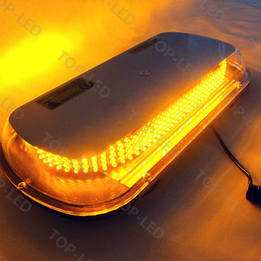 CYAN SOIL BAY 17 336 LED Emergency Hazard Warning Beacon Tow Truck Roof Strobe Light Bar Amber Flashing Lamp Yellow