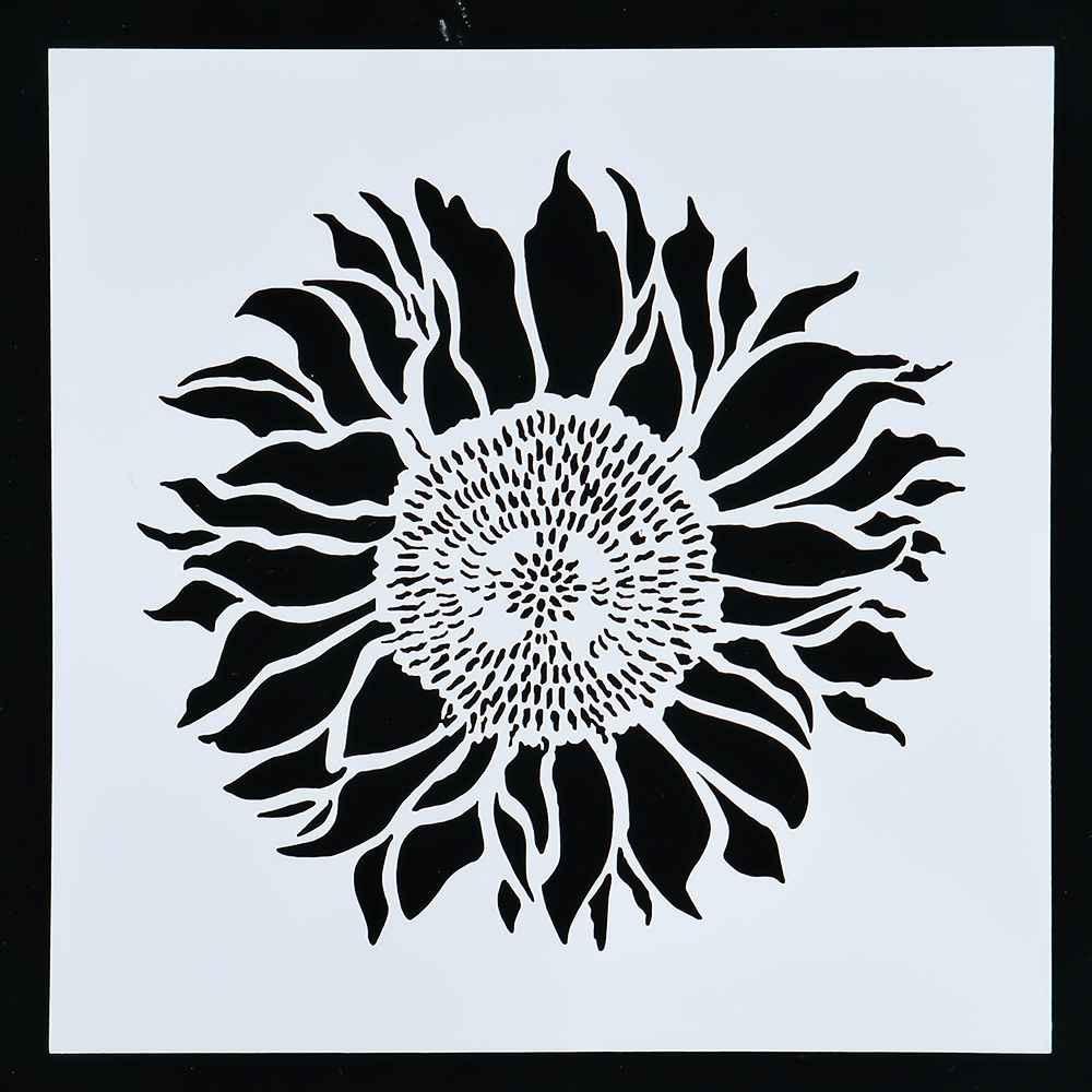1 PC Bunga Matahari Besar Reusable Stensil Airbrush Lukisan Art DIY Home Decor Memo Pemesanan Album Kerajinan