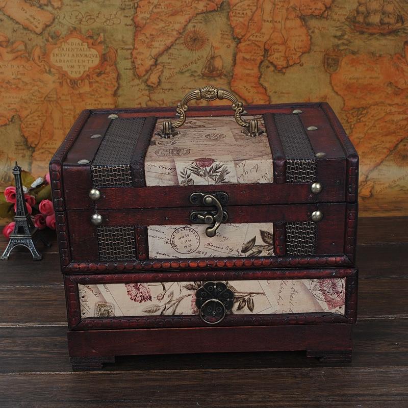 1PC font b Vintage b font font b Wooden b font Box European Style Jewellery Storage