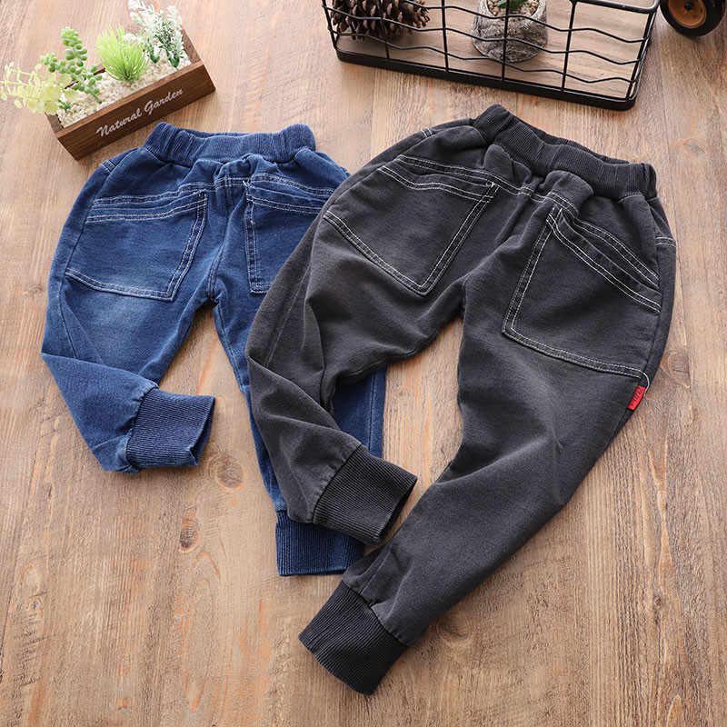 efed2c0e1571 Джинсы для мальчиков детские штаны Весна 2019 Детские трикотажные брюки