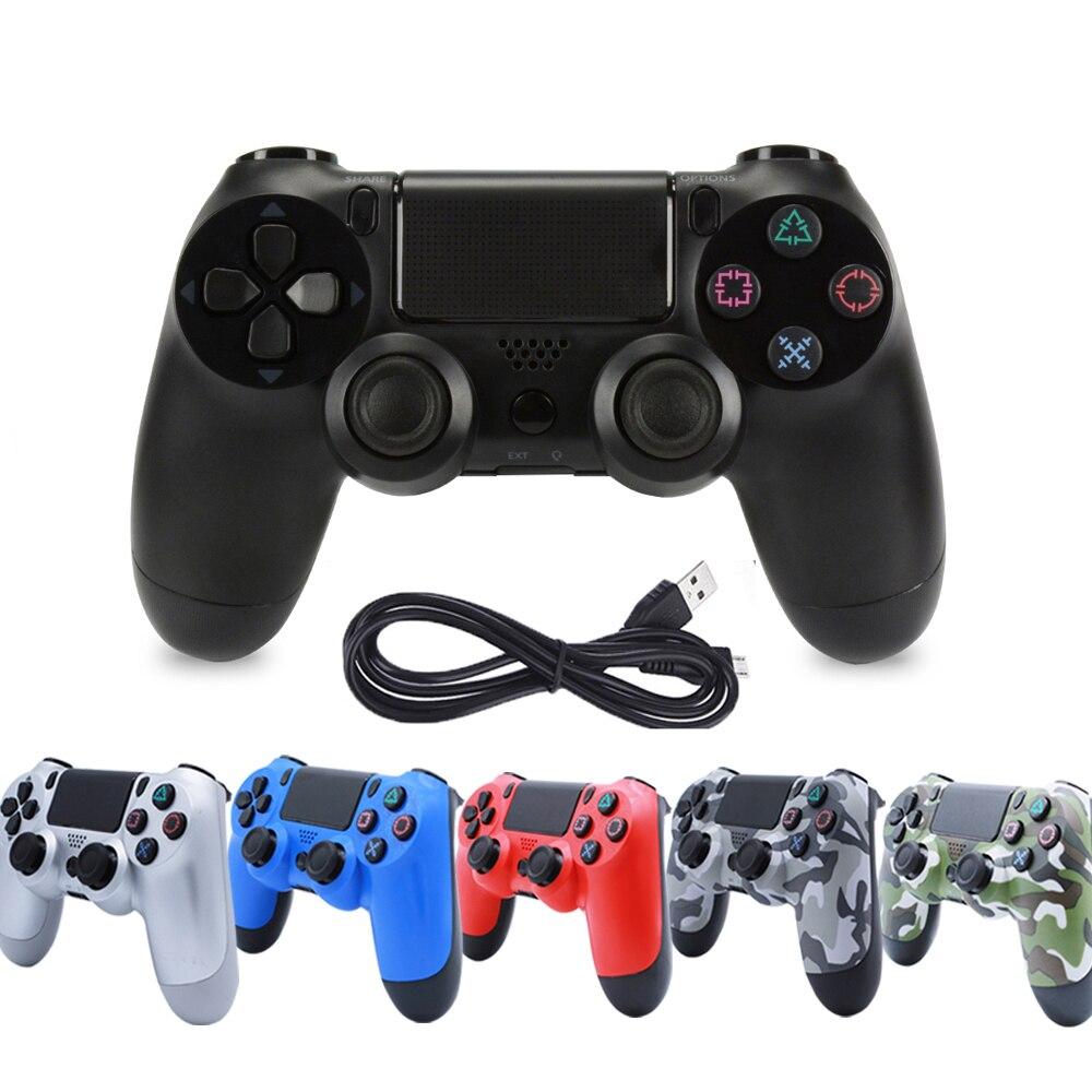 USB Wired Game Controller Joypad Para PS4/PS3 Vibração Joystick Gamepads Para PlayStation4 Gmapad/PC Win7/8 /10 Controle