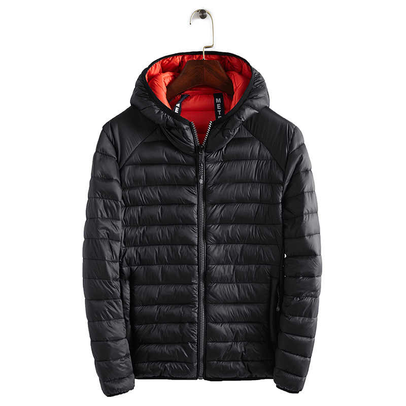 New 2019 Winter Ultralight Mens Cotton Down Jackets Lightweight Overcoats Casual Classic Coats For Male Plus Size S-XXXL