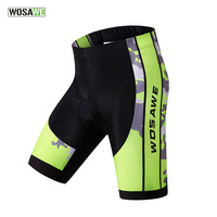WOSAWE 3D Gel Padded Cycling Shorts Mountain Bike Riding Sport Bicycle Shorts Breathable Short Pants Fitness Ciclismo Clothing
