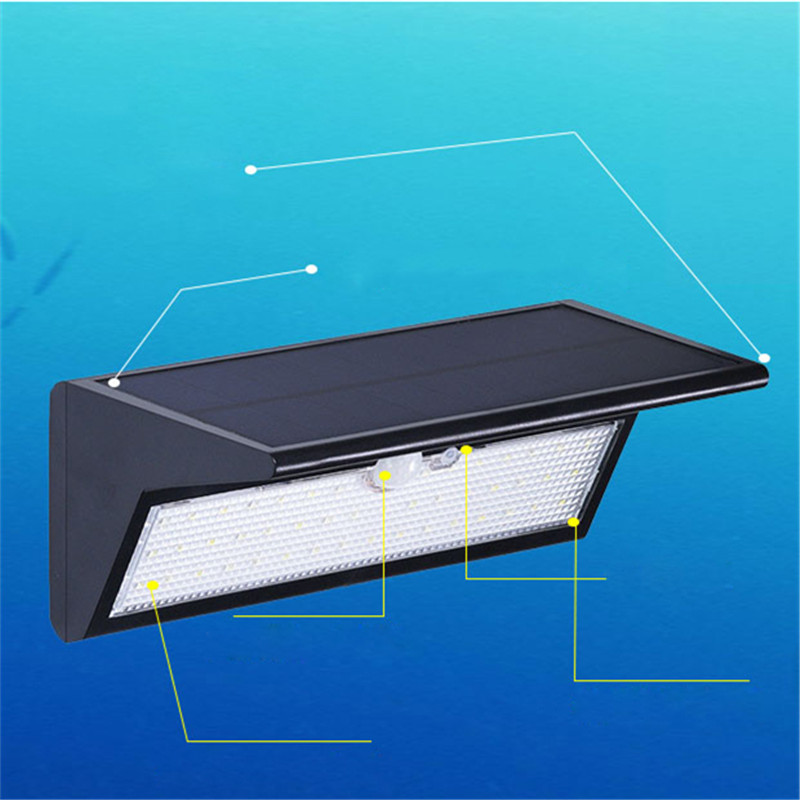 46 LED Solar Panel Body Sensor Wall Street Light Garden Outdoor Waterproof Home Yard Super Bright Lamp Lighting Luminaria Decor 40w led solar street light solar sensor light 60w solar panel 27ah battery all in one integrated outdoor solar light waterproof