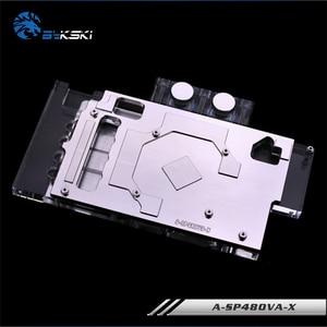Image 4 - Bykski A SP48OVA X, полноэкранная Графическая карта, блок водяного охлаждения RGB/RBW для Sapphire RX480/470, Pulse RX580