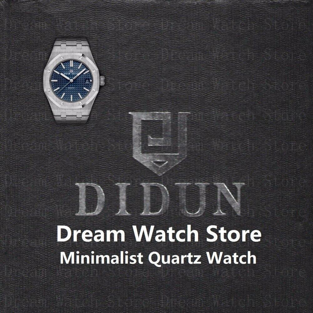 DIDUN часы мужские часы лучший бренд класса люкс кварцевые наручные часы водостойкие минималистский с 316 браслет из нержавеющей стали