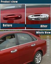 Chrome Puerta Exterior Manijas Cubiertas Para Chevrolet/Daewoo Lacetti Optra Nubira Forenza Suzuki Holden Viva Pegatinas Car Styling