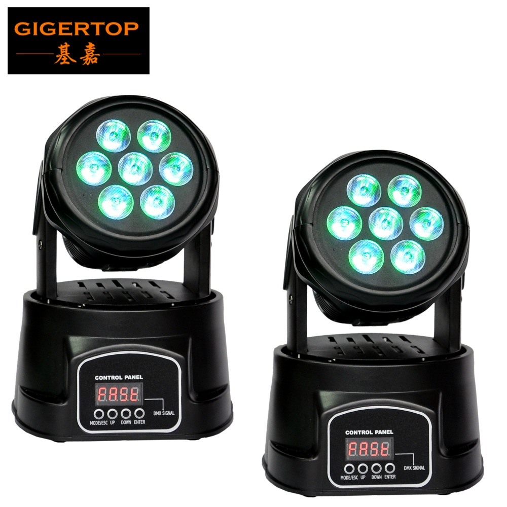 Free Shipping Wholesale 2pcs/lot 7*10W RGBW 4in1 Mini Moving Head Light The Best Price for LED Moving Head Light Club 8/13 CH  8pcs lot free shipping best lighting led moving head spot led 90w moving heads factory price