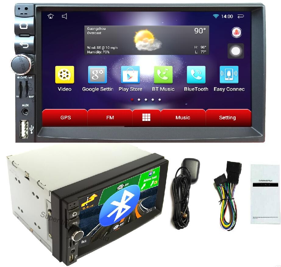 2 din android car radio no dvd player car electronic gps. Black Bedroom Furniture Sets. Home Design Ideas