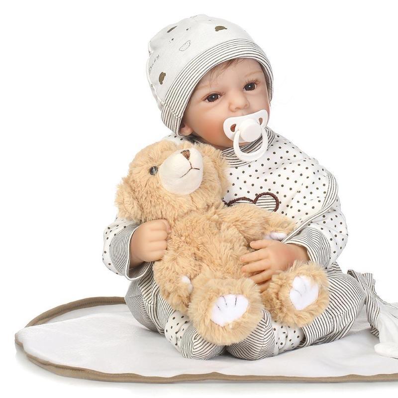 NPK Reborn Baby Doll Fashion Kids Playmate Silicone Christmas Day Gift Toys