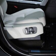 Матовая Интимные аксессуары интерьер автокресло Кнопка регулировки чехол накладка для Land Rover Discovery 5 (L462) третьего поколения 2017 2018