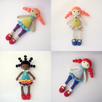 Cute dolls freinds happy girl Rattle doll and toy
