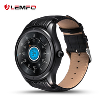 LEMFO Q3 1.39 Inch Amoled Screen Smart Watch Android 3G GPS WIFI Bluetooth Heart Rate Monitor Smartwatch Men With Leather Strap