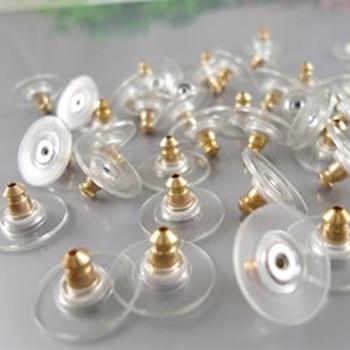 50 / set. DIY earrings jewelry accessories metal bullet film earplugs / lock ring wholesale
