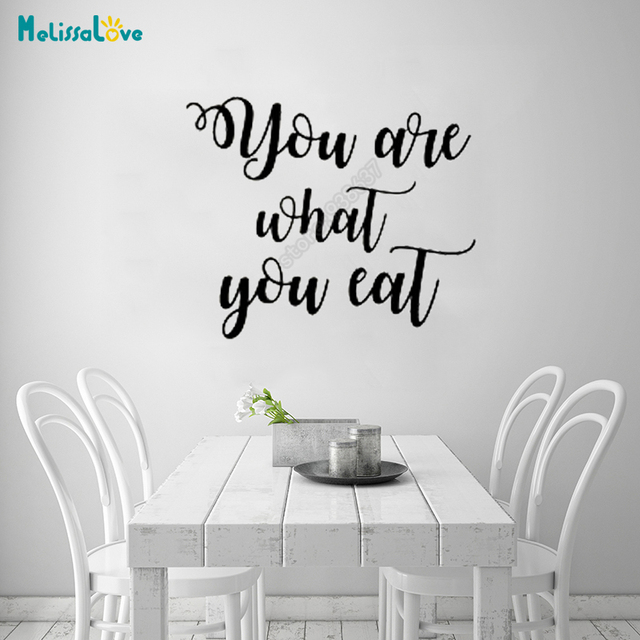 You Are What You Eat Kitchen Dining Room Decal Quote Sticker
