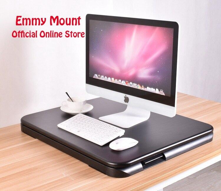 Новый ультра тонкий EasyUp Высота Регулируемый сидеть, стоять, Рабочий стол стояк складной настольная подставка для ноутбука Тетрадь/монитор ...