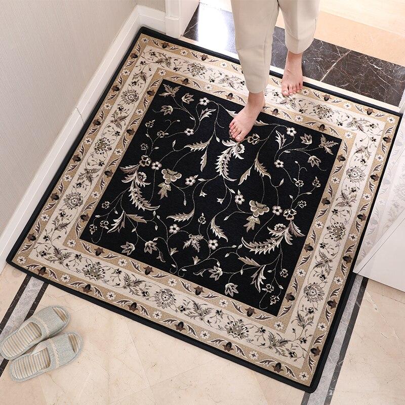 Tapis de porte de style européen tapis Jacquard de plancher d'entrée pour salon tapis anti-dérapant paillasson décor à la maison tapis persan