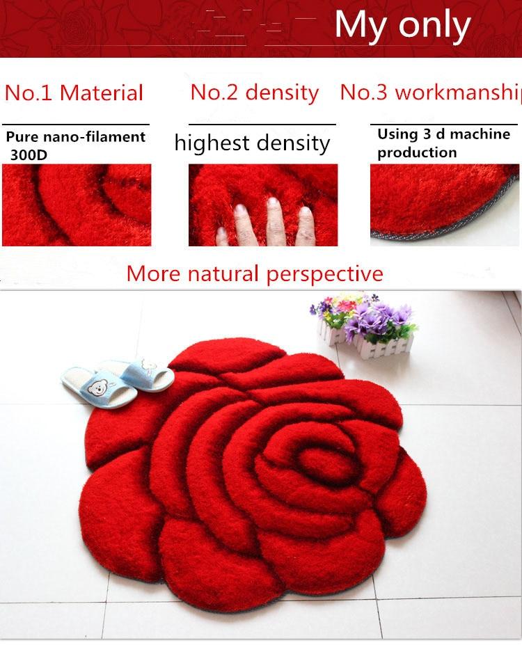 Модный креативный ковер в форме цветка Европейский 3D двойной розовый ковер для украшения гостиной спальни нежный персональный мягкий коврик
