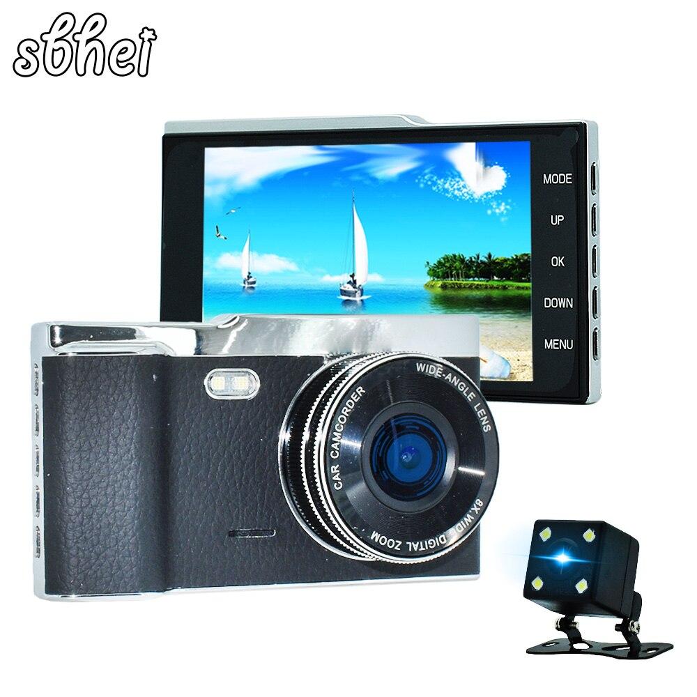 Sbhei 4.0 pouces IPS écran voiture DVR Novatek NTK96658 voiture caméra tableau de bord caméra Full HD 1080 P vidéo 170 degrés caméra de tableau de bord