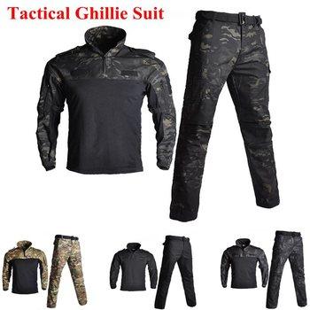 851963fd Traje de rana de manga larga táctico FG hombres caza camuflaje ropa Camisa  + Pantalones ejército militar uniforme de entrenamiento s-XXL