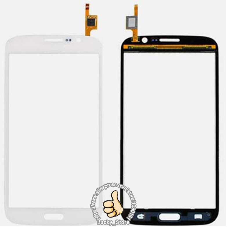 Negro lente de cristal delantera blanca + digitizador de la pantalla táctil para