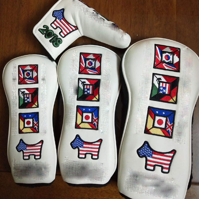 NEWEST GOLF HEAD COVER Woods1 3 5 AND Putter Clubs Headcovers 4 PCS LOT FREE SHIPPING in Club Heads from Sports Entertainment