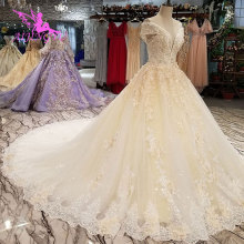AIJINGYU Vintage Bride Dresses Wedding Dress Bridal Gown