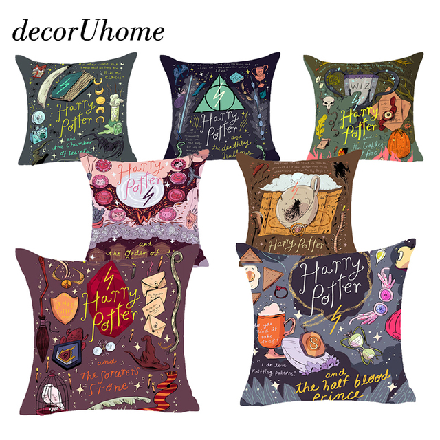 DecorUhome Nordic Del Fumetto Harry Potter Cuscino In Poliestere Coperture Sceni