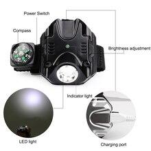 Wiederaufladbare variabler-led wristlight mit kompass und LED-licht für Camping Klettern Wandern Radfahren biking smartwatch