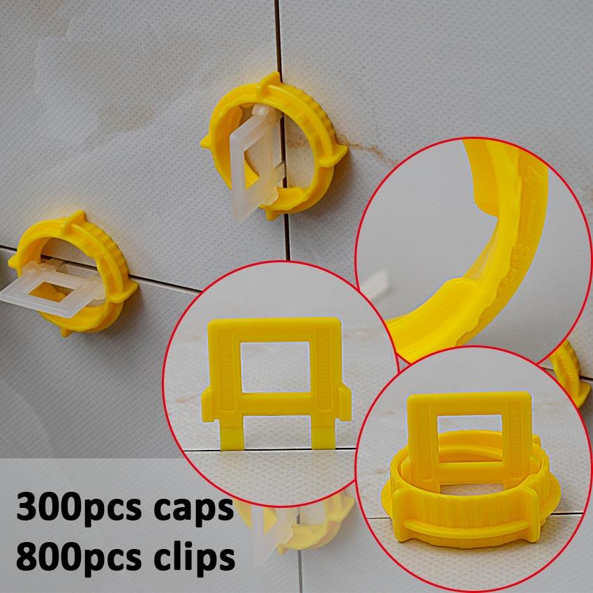 300 Caps 800 1mm Clips Clamps Plastic Ceramic Accessories Livellamento Level Floor Tiles Tools Tile Leveling System For Tiles thyssen parts leveling sensor yg 39g1k door zone switch leveling photoelectric sensors