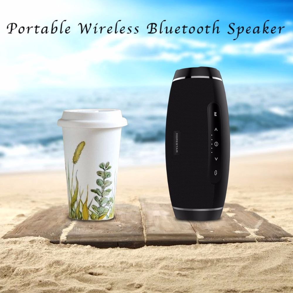 Image 5 - Hopestar wireless column bluetooth speaker stereo bass Subwoofer computer2.1 sound box waterproof FM radio USB Mp3 music boombox-in Portable Speakers from Consumer Electronics