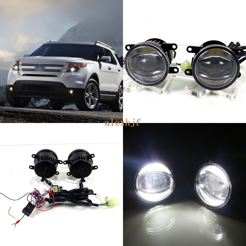 July King 1600LM 24W 6000K LED Light Guide Q5 Lens Fog Lamp +1000LM 14W Day Running Lights DRL Case for Ford Explorer 2011-2015 july king 1600lm 24w 6000k led light guide q5 lens fog lamp 1000lm 14w day running lights drl case for ford focus ii iii 06 14