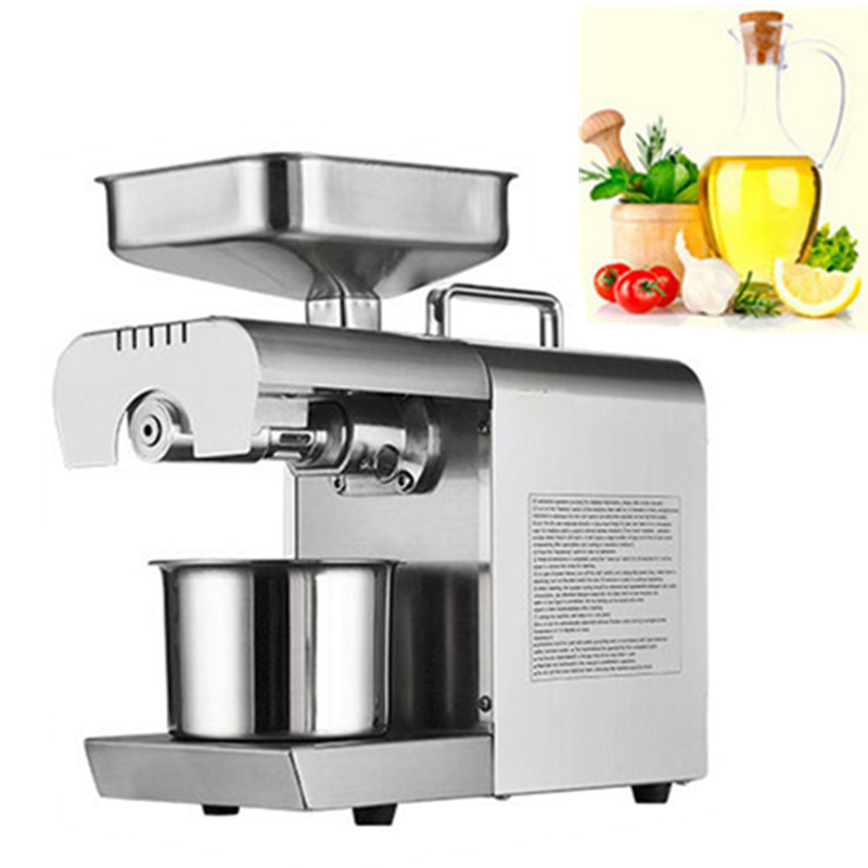 Commercial Grade 110V Or 220V Seed Oil Press Machine Nut Seed Peanut Automatic Stainless All Steel Presser High Oil Extraction 110v or 220v oil press machine nut seed automatic stainless all steel presser high oil extraction
